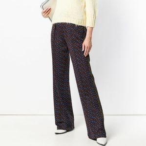 Marni Pattern Techno Jersey Wideleg Trouser Pants